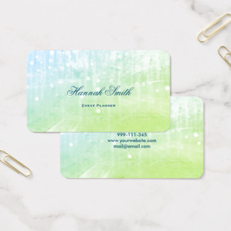 Professional elegant modern luxury glitter business card