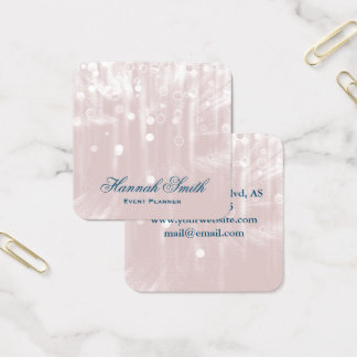 Professional elegant modern luxury glitter square business card