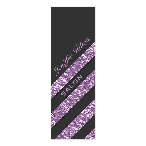 Professional elegant modern luxury glitter stripes business card
