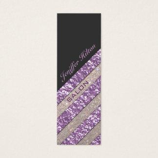 Professional elegant modern luxury glitter stripes mini business card