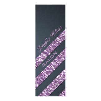 Professional elegant modern luxury glitter stripes pack of skinny business cards