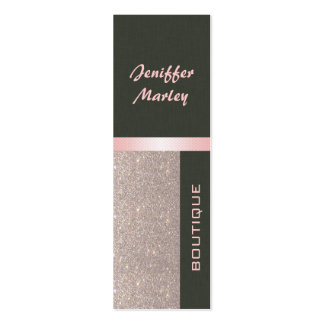 Professional elegant modern luxury glittery Double-Sided mini business cards (Pack of 20)