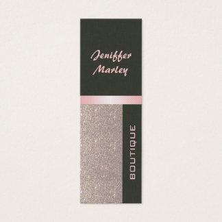 Professional elegant modern luxury glittery mini business card