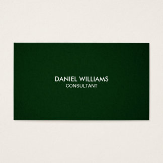 Professional Elegant Modern Minimal Green Business Card