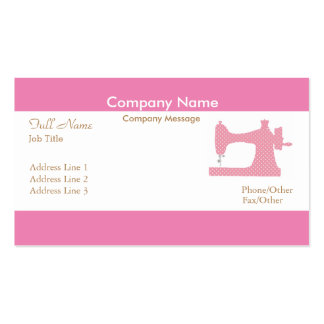 Professional Elegant Modern Pink Sewing Machine Pack Of Standard Business Cards