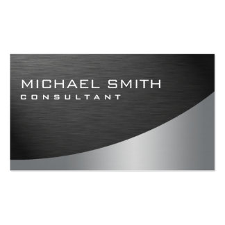 Professional Elegant Modern Plain Metal Black Pack Of Standard Business Cards