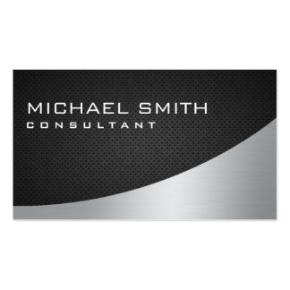 Professional Elegant Modern Plain Metal Black Pack Of Standard Business Cards