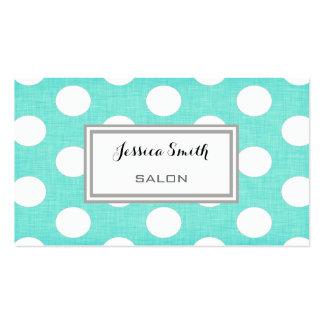 Professional elegant modern polka dots pack of standard business cards