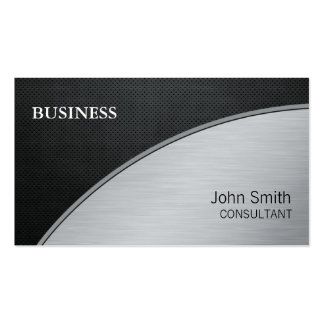 Professional Elegant Modern Silver Computer Repair Business Card Template