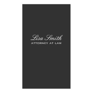 Professional Elegant Plain Black Simple Attorney Pack Of Standard Business Cards