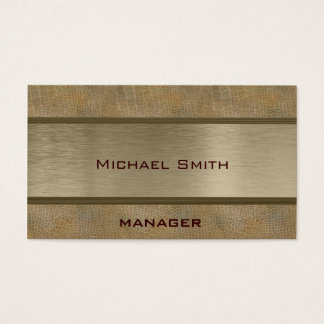 Professional elegant plain leather look business card