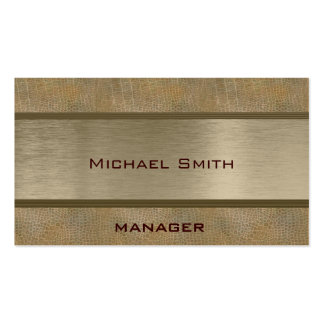 Professional elegant plain leather look pack of standard business cards