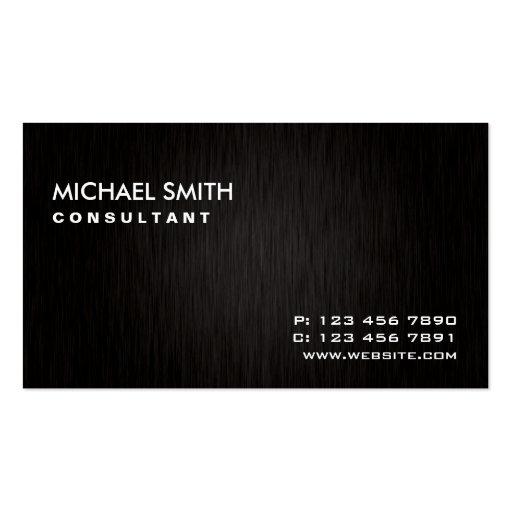 Professional Elegant Plain Modern Black Simple Business Cards