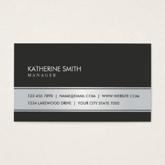 Professional Elegant Plain Simple Black and Silver