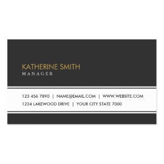 Professional Elegant Plain Simple Black and White Pack Of Standard Business Cards