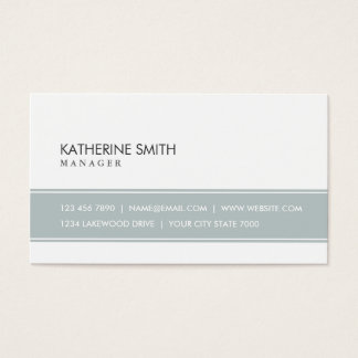Professional Elegant Plain Simple Gray and White