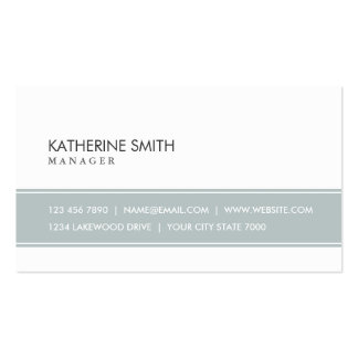Professional Elegant Plain Simple Grey and White Pack Of Standard Business Cards