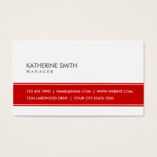 Professional Elegant Plain Simple Red and White