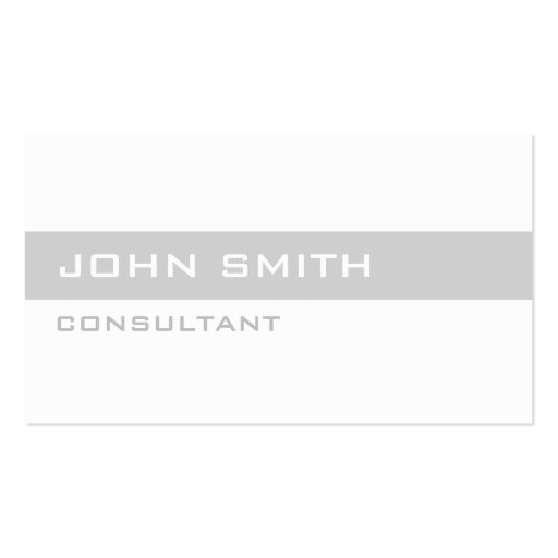 Professional Elegant Plain Simple White Modern Business Cards