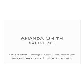 Professional Elegant Plain White Makeup Artist Pack Of Standard Business Cards