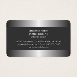 Professional Elegant Silver Metal Attorney