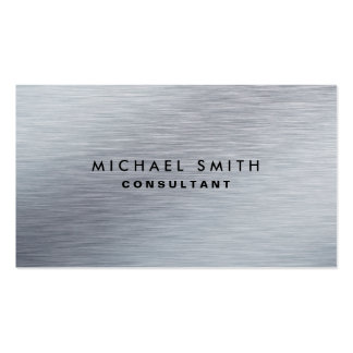 Professional Elegant Silver Metal Modern Plain Pack Of Standard Business Cards