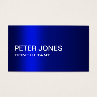Professional Elegant Simple Plain Blue Gradient Business Card