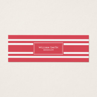 Professional Elegant soft red lines business card