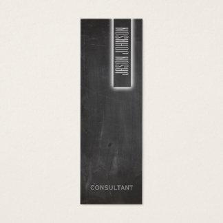Professional elegant tile minimalism chalkboard mini business card