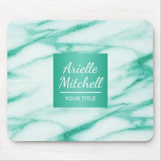 Professional Elegant Turquoise Alabaster Marble Mouse Pad