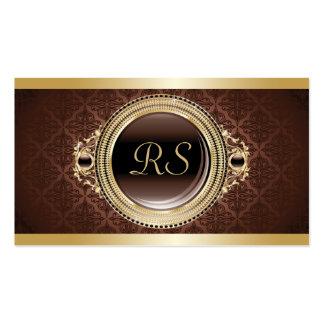 Professional Elegant Vintage Floral Monogram Gold Pack Of Standard Business Cards