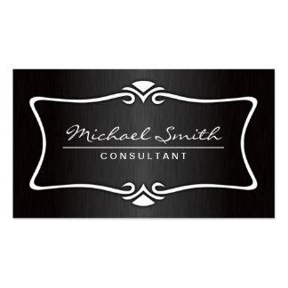 Professional Elegant Vintage Ornamental Black Business Cards