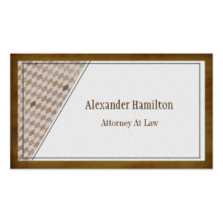 Professional Executive Mahogany Argyle Check Double-Sided Standard Business Cards (Pack Of 100)