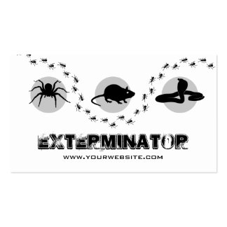 Professional Exterminator Pest Control Pack Of Standard Business Cards