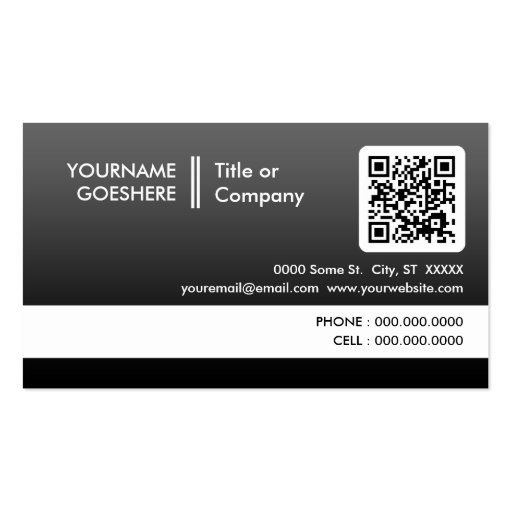 professional fade QR code Business Card