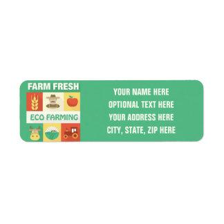 Professional Farmer Iconic Designed Return Address Label