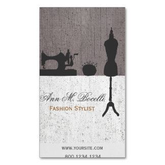 Professional Fashion Stylist Mannequin Couture Magnetic Business Cards