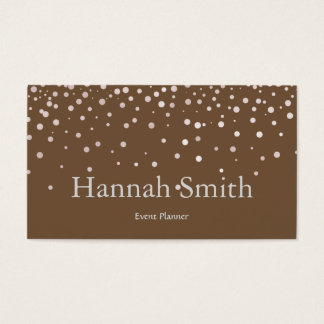 Professional faux glamorous modern elegant plain business card