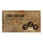 Professional Faux Wood Construction Carpentry Pack Of Standard Business Cards