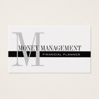 Professional Financial Planner Silver Black Business Card