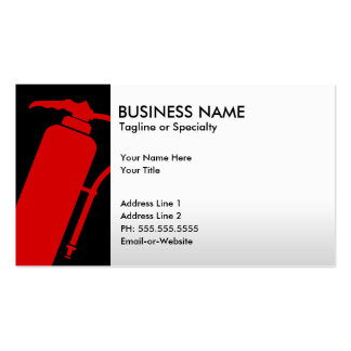 professional fire extinguisher business card templates
