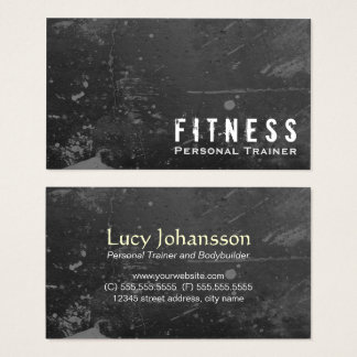 Professional Fitness Personal Trainer Black Grunge