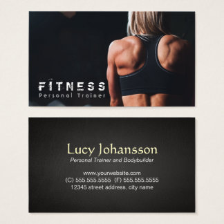 Professional Fitness Personal Trainer muscle Business Card
