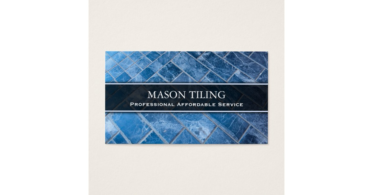 Professional flooring and tiler business card zazzle for Tiler business card