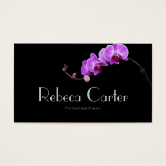 Professional Florist Business Card Orchid