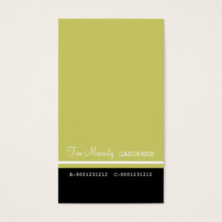 Professional Gardener Calling Business Card