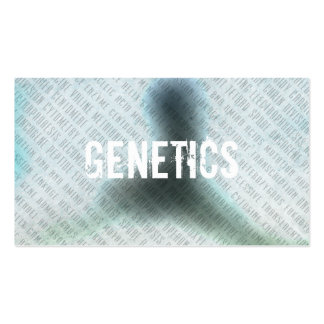 Professional Genetics Typography Business Cards