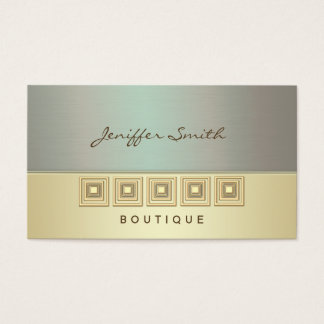 Professional geometrical metal look texture gold business card