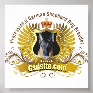 Professional German Shepherd Dog Breeder Poster