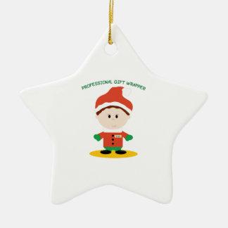 Professional Gift Wrapper Ceramic Ornament